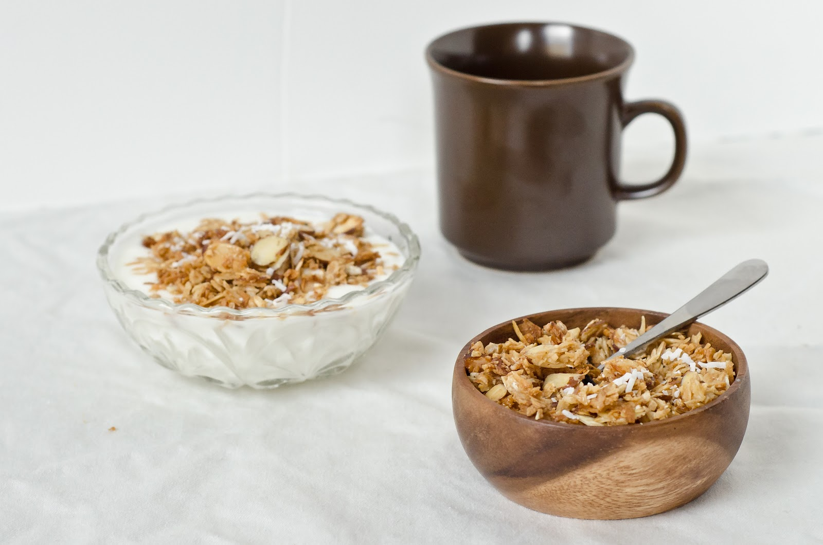 Coconut Ginger Granola with Almonds - The Fig Tree