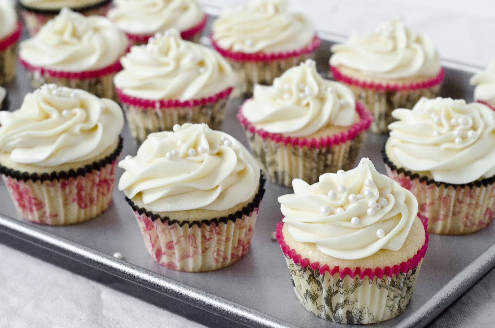 White Chocolate Cupcakes with Cream Cheese Frosting - The Fig Tree