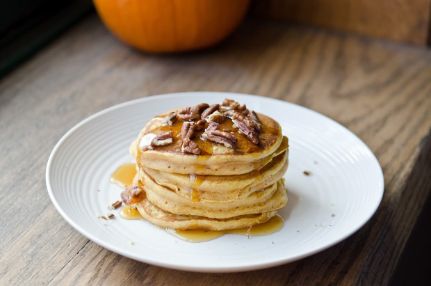 Pumpkin Spice Pancakes with Toasted Pecans - The Fig Tree