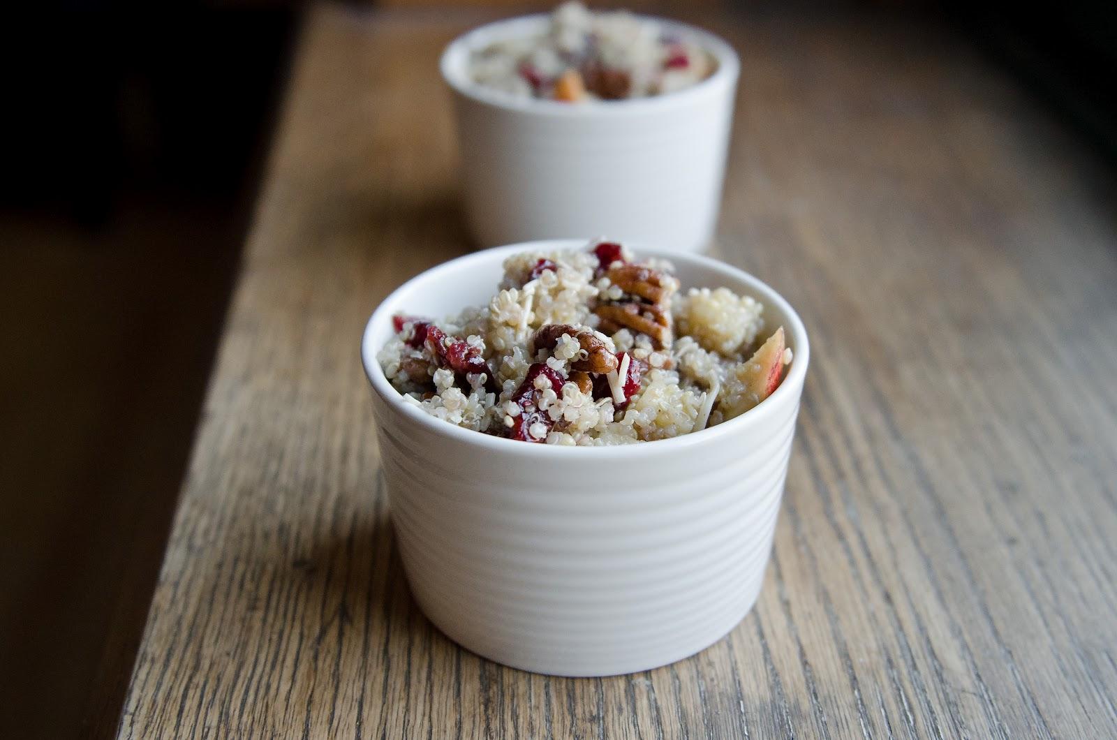 Apple Cranberry Pecan Quinoa Salad - The Fig Tree
