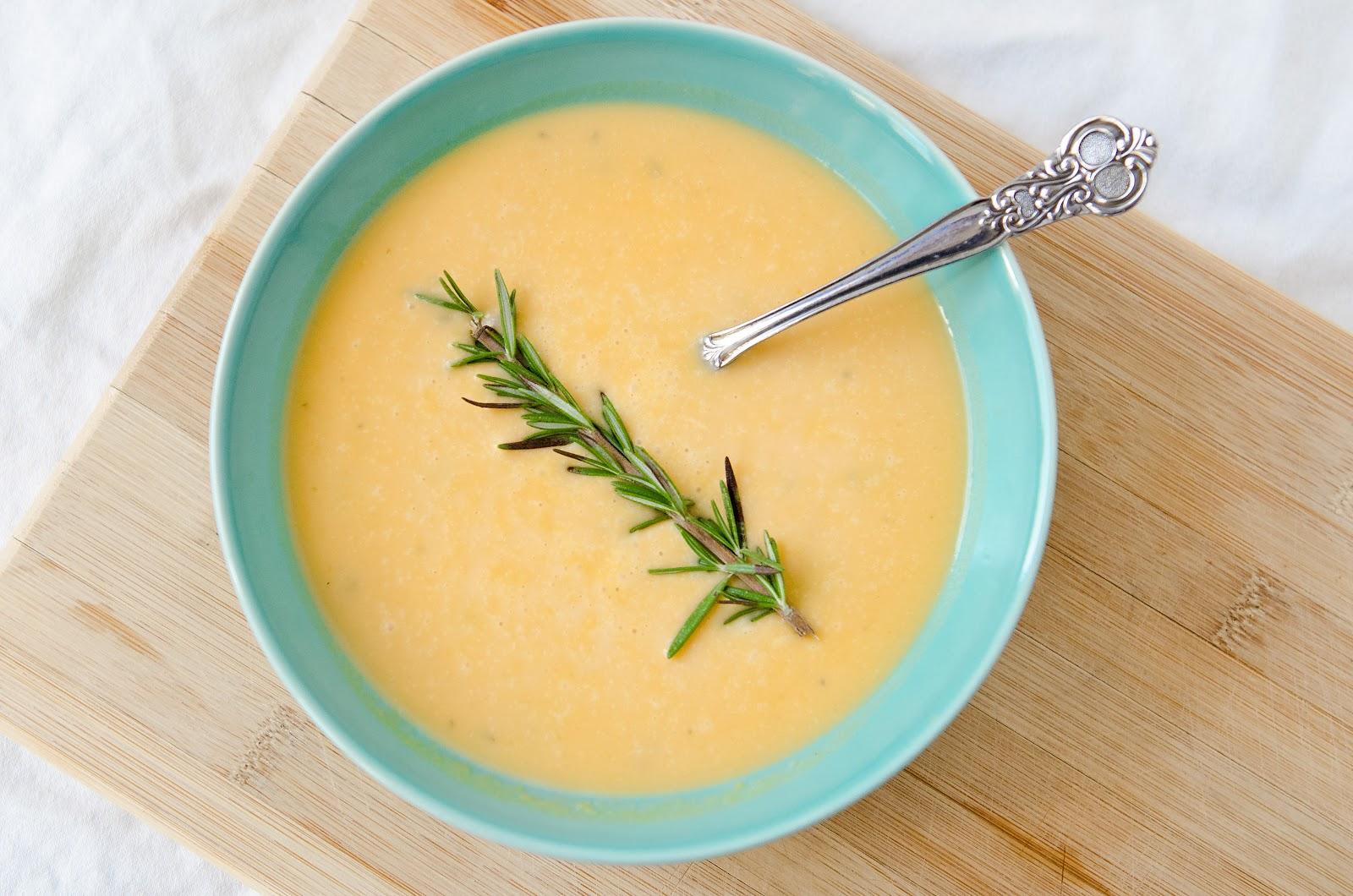 Creamy Rosemary Sweet Potato Soup - The Fig Tree