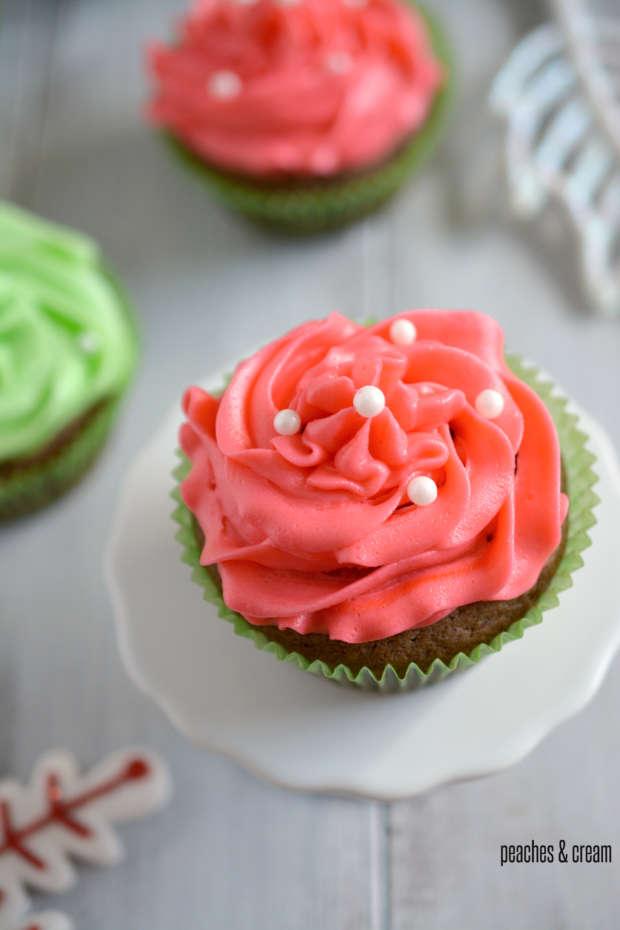 Chocolate Cupcakes_ Peaches & Cream