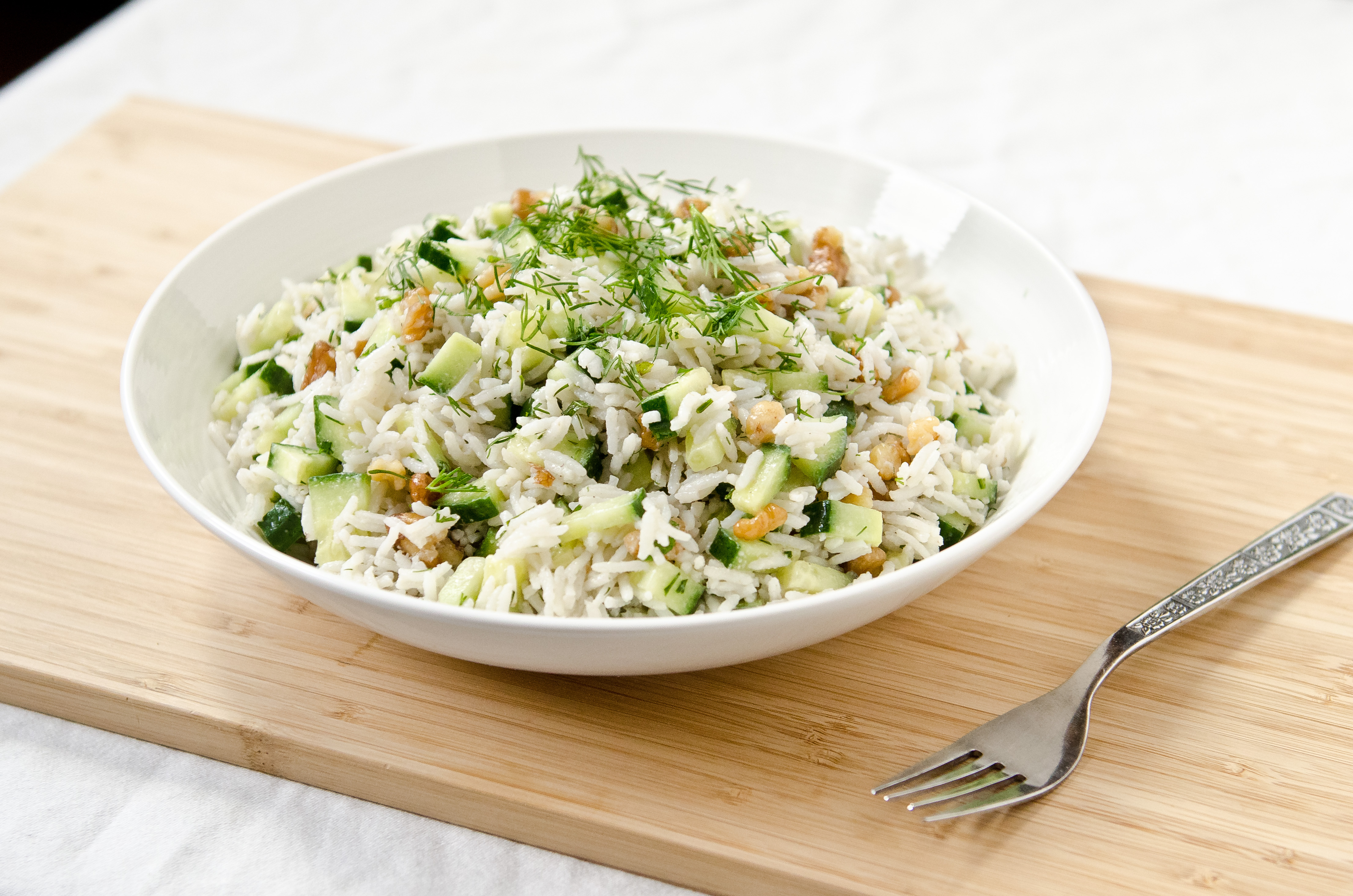Creamy Herb & Cucumber Rice Salad - The Fig Tree
