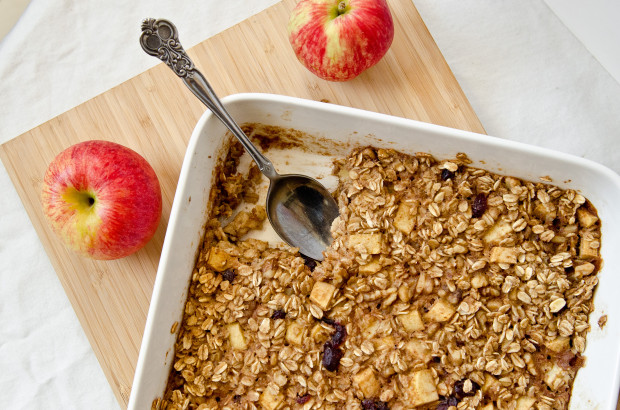 Vegan Apple Cinnamon Baked Oatmeal - The Fig Tree