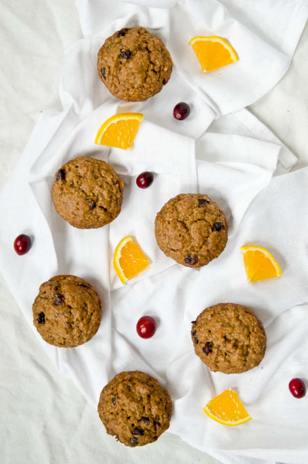 Cranberry Orange Oat Muffins - The Fig Tree