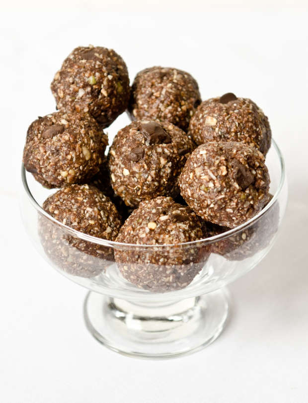 Double Chocolate Coconut Energy Bites