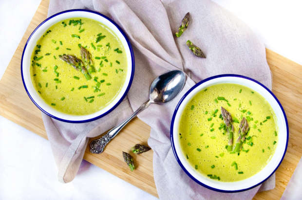 Green Goddess Asparagus Soup