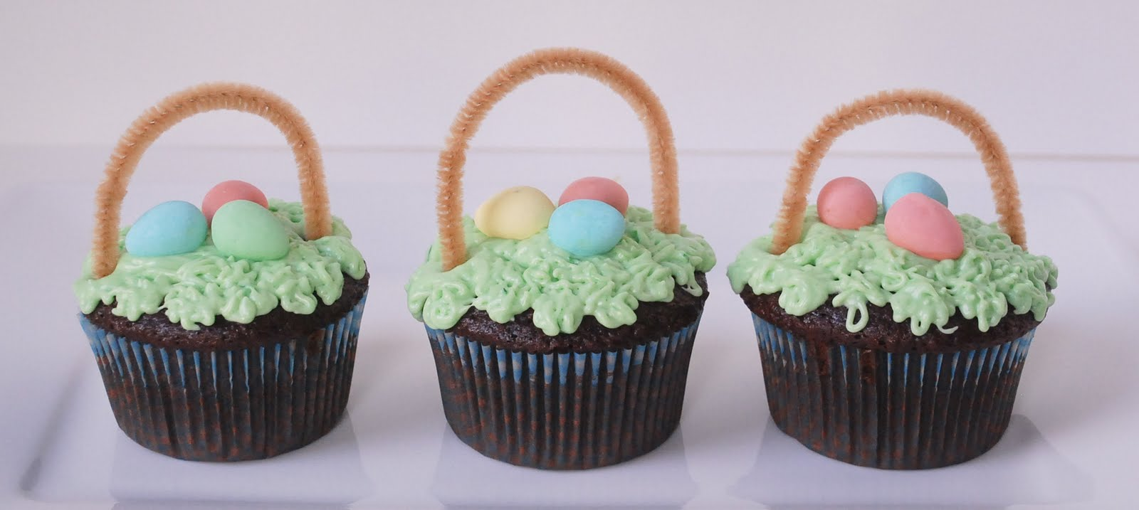 Easter basket cupcakes the fig tree easter basket cupcakes negle Images