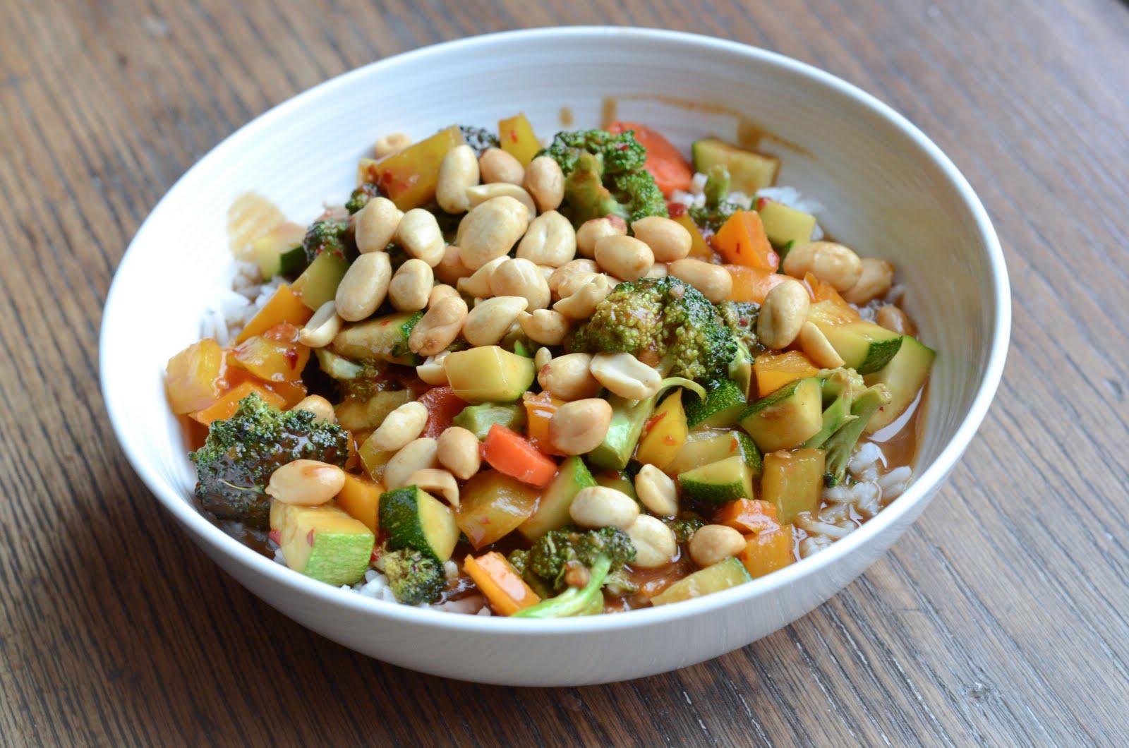 Vegetarian Thai Peanut Stir-Fry - The Fig Tree